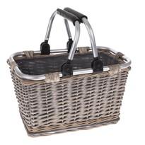Prútený košík s kovovými ušami Arlon, 25 x 22 x 22 cm