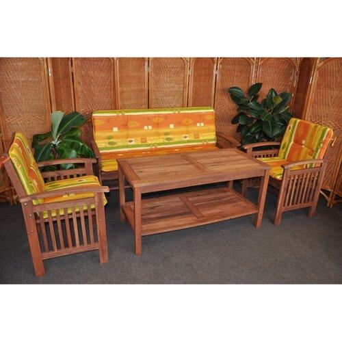 Záhradní nábytek s lavicí, žlutá