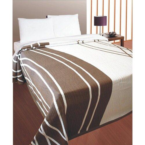Prehoz na posteľ Casanova hnedý, 240 x 260 cm, hnedá