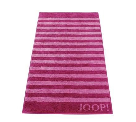 JOOP! ručník Stripes růžový, 50 x 100 cm