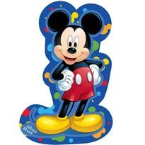 Tvarovaný vankúšik Mickey blue, 31 x 19 cm