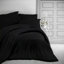 Kvalitex Stripe szatén ágynemű, fekete