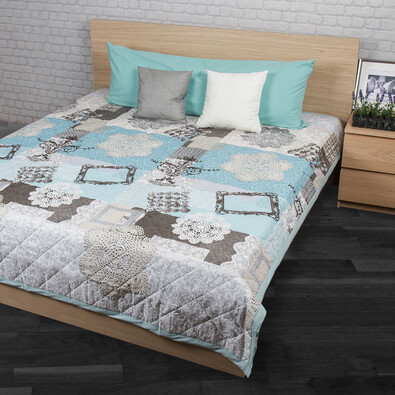 Cuvertură de pat Lace turcoaz, 240 x 220 cm
