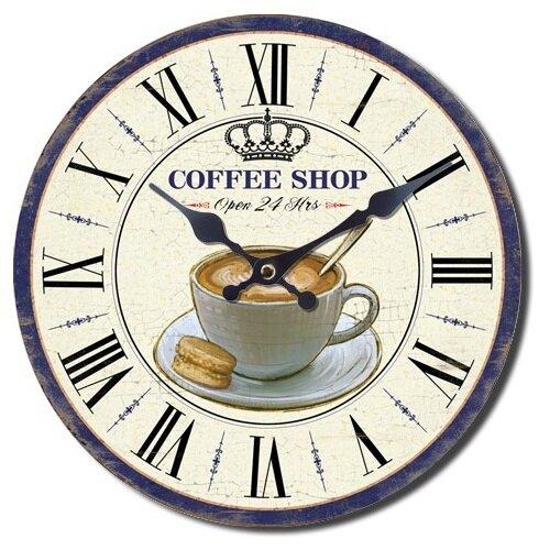 Nástěnné hodiny Coffee shop, pr. 28 cm