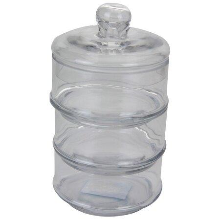 Set de doze de sticlă cu capac Home Styling