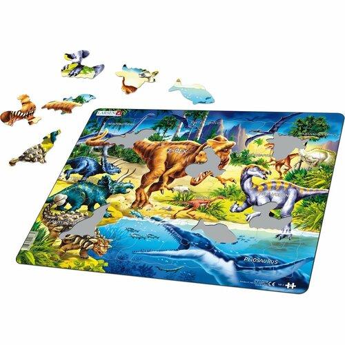 Larsen Puzzle Dinosaury z obdobia Kriedy, 57 dielikov