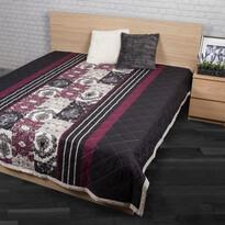Prehoz na posteľ Paolina fialová, 240 x 220 cm