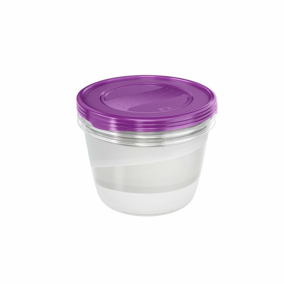 Keeeper Set dóz na potraviny vhodné do mrazničky Fredo Fresh, fialová 3x2,3L