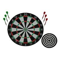 Tarcza do rzutek z rama metalową 38 cm, nakładka i 6 rzutek