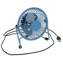 USB větrák modrá, 13,5 x 11 x 15 cm