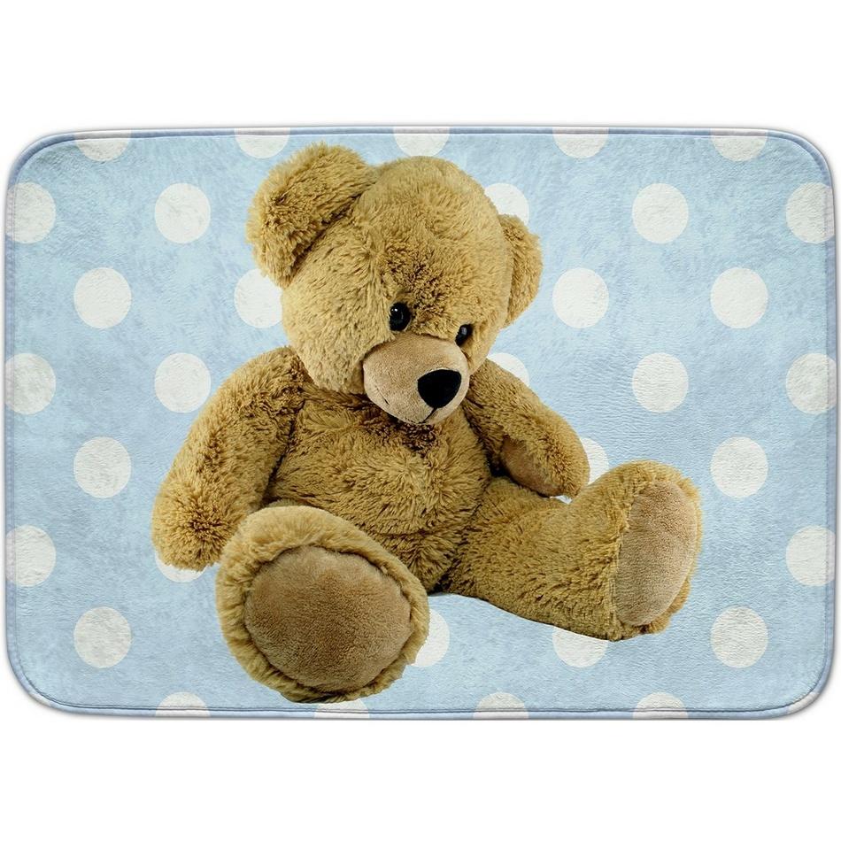 Vopi Dětský koberec Ultra Soft Medvídek modrá, 130 x 180 cm