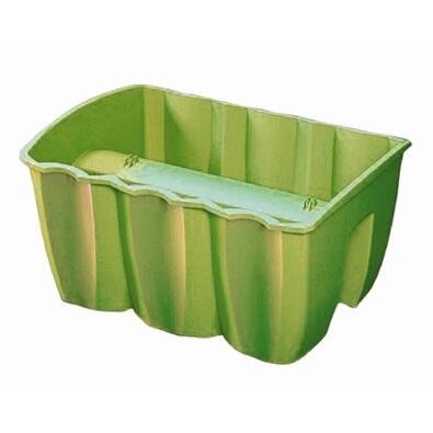 Balkónový truhlík na zábradlí zelená 12 l