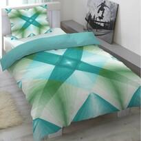 Pościel satynowa Air niebieski, 140 x 200 cm, 70 x 90 cm
