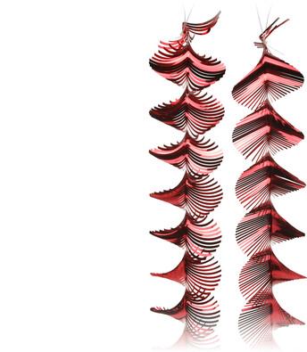 Vánoční girlanda 150 cm červená