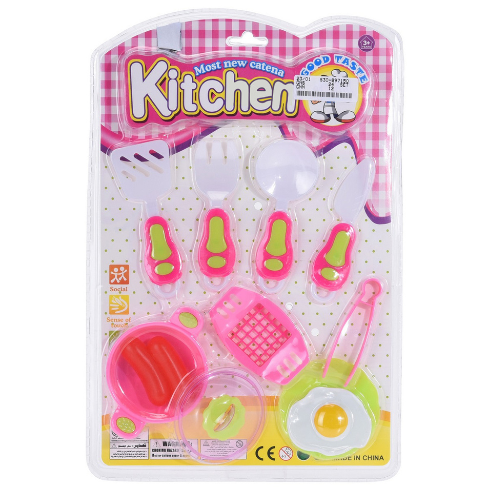 Fotografie Dětský hrací set Food and kitchen Fork, 11 ks