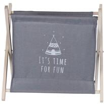 Koopman Úložný košík Child's dream sivá, 32 x 30 cm