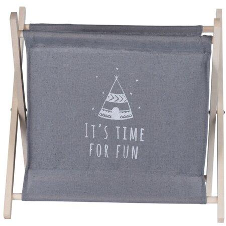 Koopman Úložný košík Child's dream šedá, 32 x 30 cm
