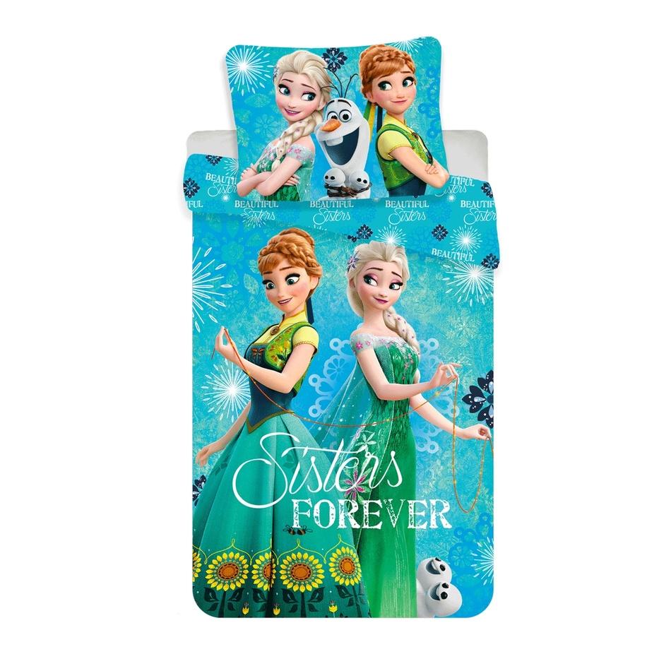 Jerry Fabrics Dětské bavlněné povlečení Ledové Království Frozen Sisters, 140 x 200 cm, 70 x 90 cm