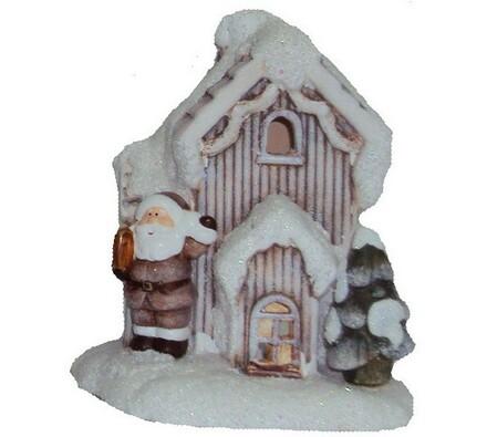 Keramický domeček na čajovou svíčku