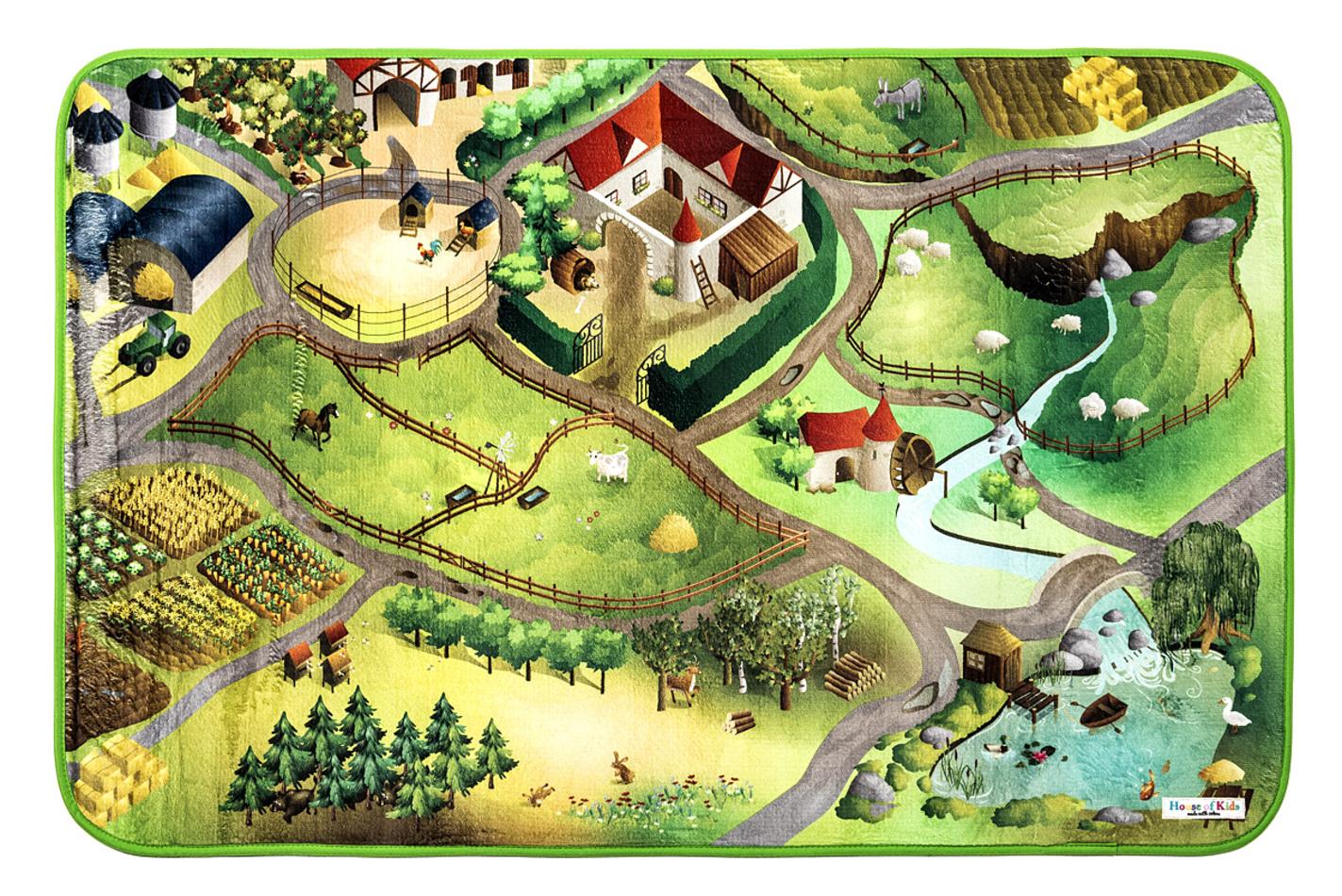 Vopi Detský koberec Ultra Soft Farma, 130 x 180 cm