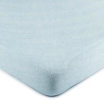 Cearșaf pat 4Home, din bumbac, albastru deschis