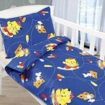 Dziecięca pościel bawełniana do łóżeczka Agata – Słonik, 90 x 135 cm, 45 x 60 cm