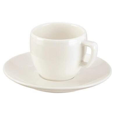 Ceașcă espresso Tescoma Crema cu farfurioară, 80 ml