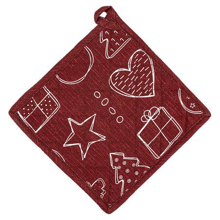 Vianočná podložka Anjelik červená, 20 x 20 cm