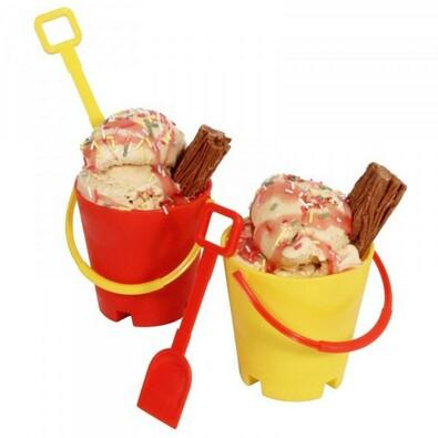 Kbelík a rýč na zmrzlinu, vícebarevná