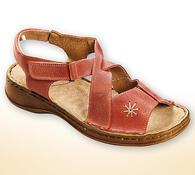 Orto Plus Dámské sandály s přezkou vel. 42 lososová