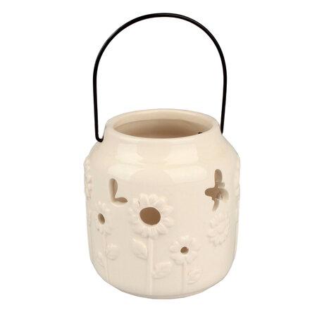 Świecznik do powieszenia biały, 9,5 cm