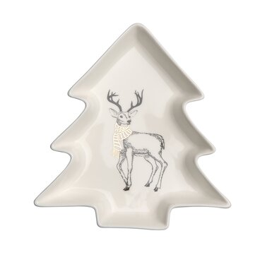 Altom Porcelanowy półmisek do podawania Choinka Nordic Forest Deer 17,5 cm