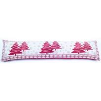 Vánoční ozdobný těsnící polštář do oken Stromky, 90 x 22 cm