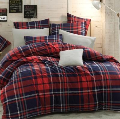 Bavlněné povlečení Scotch Červená, 140 x 220 cm, 70 x 90 cm