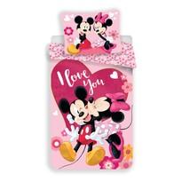 Jerry Fabrics Dětské povlečení Mickey and Minnie Kiss micro, 140 x 200 cm, 70 x 90 cm