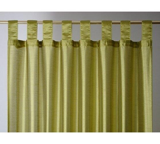 Zasłona FAUX SILK, 140 x 250 cm, zielona
