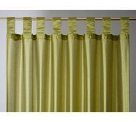 Závěs   FAUX SILK, 140 x 250 cm, zelená