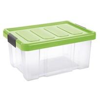 Tontarelli Úložný box s víkem Puzzle Clips 14 l, transparentní/zelená
