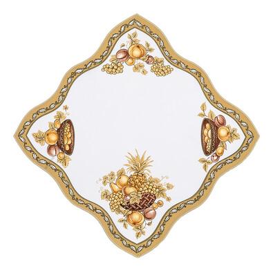 Ubrus ovoce zlatá, 35 x 35 cm