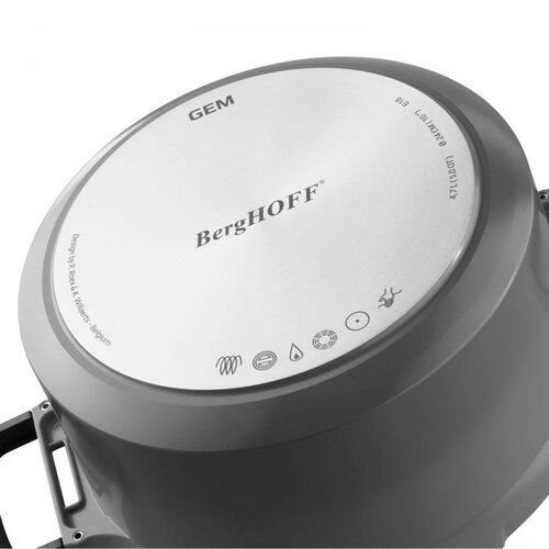 Berghoff Cratiță cu capac pentru strecurare GEM STAYCOOL, 16 cm