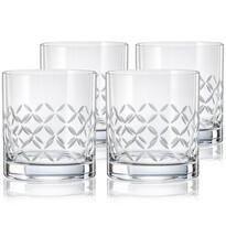Crystalex CXBR778 Set 4 pahare de whisky, 280 ml