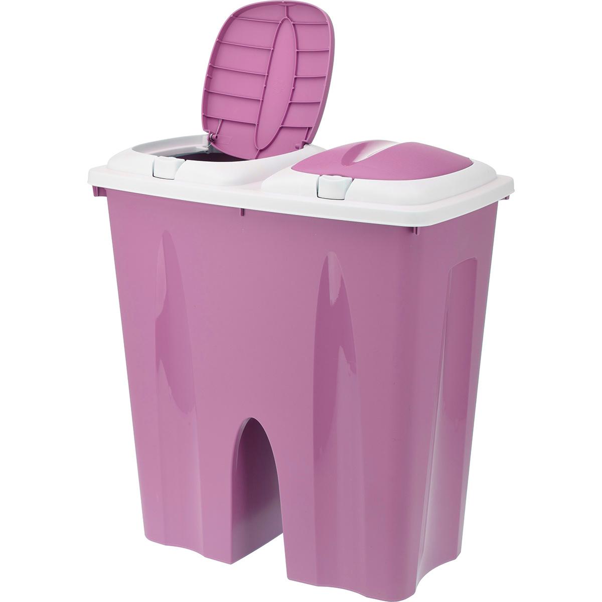 Koopman Odpadkový koš Crayon 2 x 25 l, růžová