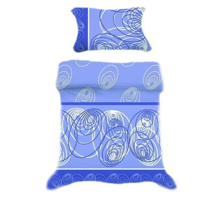 Přikrývka a polštář modrá, 140 x 200 cm, 70 x 90 c, modrá