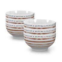 Mäser porcelántál készlet STRIPES and DOTS II 14 cm, 6 db-os