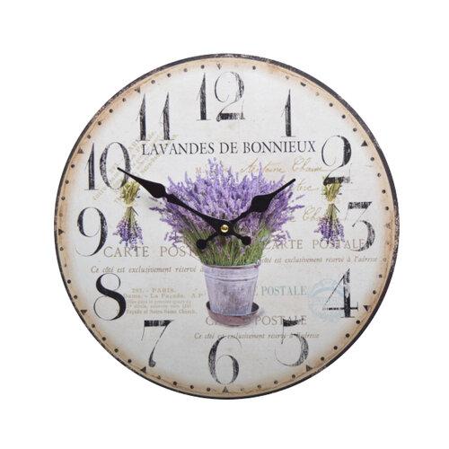 Nástenné hodiny Levanduľa HLC140065