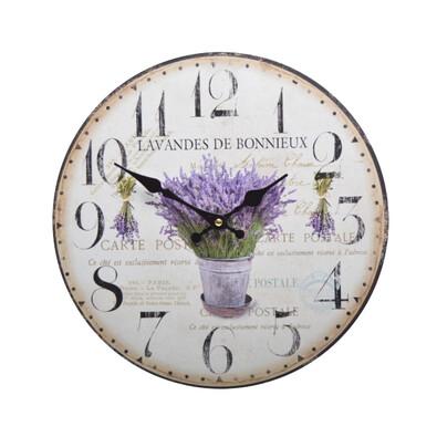 Nástěnné hodiny Levandule HLC140065
