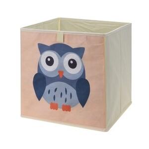 Úložný box na hračky 32 x 32 x 30 cm, sova