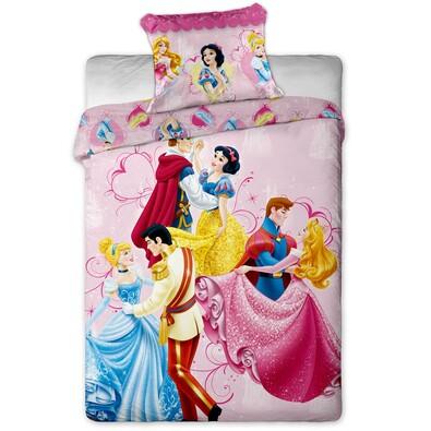 Dětské bavlněné povlečení tančící Princezny, 140 x 200 cm, 70 x 90 cm