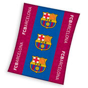 Fleecová deka FC Barcelona Trio,130 x 170 cm