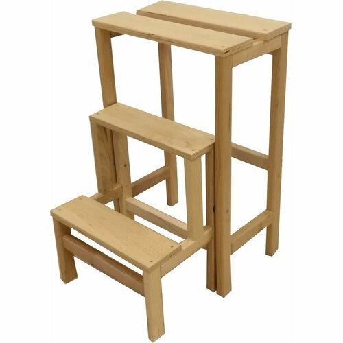 Compactor Dřevěné dekorativní schůdky, 37 x 23 x 60 cm